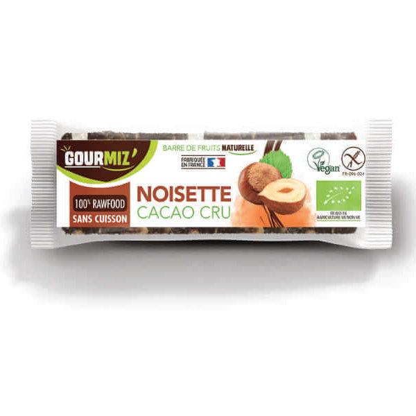 Barre energetique bio naturelle noisette cacao cru