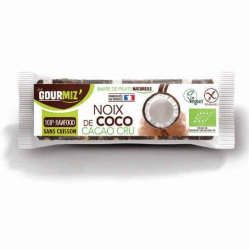 Barre energetique bio noix coco cacao cru