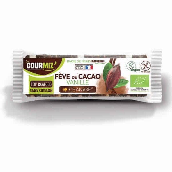 Barre gourmiz bio feve cacao vanille